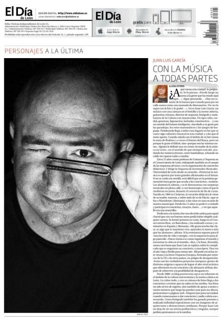 Juan Luis García.© Fotografía: Ana M. Díez / El Día de León.