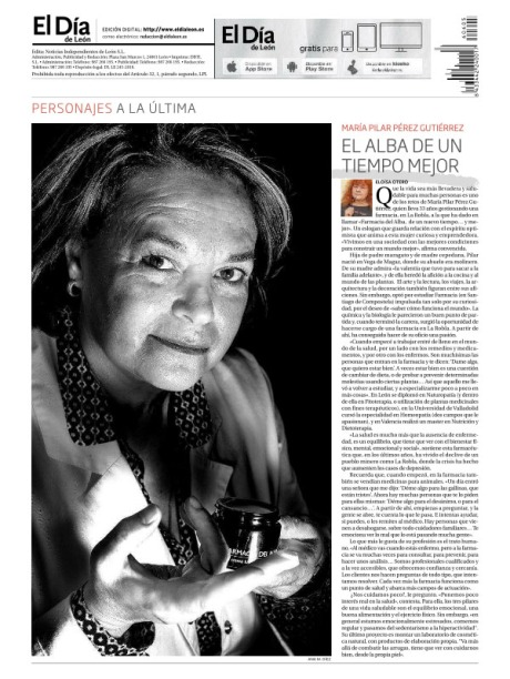 María Pilar Pérez Gutiérrez en la última de El Día de León. Fotografía: Ana M. Díez.